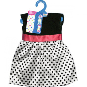 Fibre Craft Springfield Collection Dress for Doll, Polka Dot, Black/White