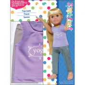 Fibre Craft Springfield Collection Yoga Outfit for Doll, Purple/Grey