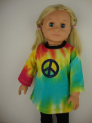 A Casual 2 Pc Multi Colour Tye Dye Pant Set Designed for 46cm Doll Like the American Girl Dolls Shoes Sold Separate