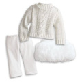 American Girl MY AG Soft-As-Snow Outfit and Charm