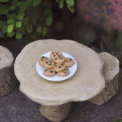 Darice Timeless Miniatures Chocolate Chip Cookie Plate