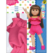 Fibre Craft Springfield Collection Romper for Doll, Fuchsia