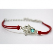 "HAMSA HAND Red String Kabbalah Charm Bracelet - Evil Eye Jewellery for ""Good Luck, Success and Protection"""