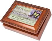 Cottage Garden Lifes Blessings Woodgrain Music Box / Jewellery Box Plays Amazing Grace