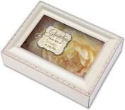 Cottage Garden Grandma Ivory Music Box / Jewellery Box Plays You Light Up My Life
