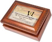 Cottage Garden Nana Woodgrain Music Box / Jewellery Box Plays Amazing Grace