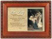 Cottage Garden Hail Mary Woodgrain Music Box / Jewellery Box Plays Ave Maria