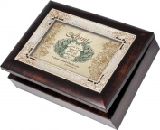 Cottage Garden Aunt Burlwood With Silver Inlay Italian Style Music Box / Jewellery Box Plays Friend In Jesus