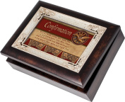Cottage Garden Comfirmation Burlwood With Silver Inlay Italian Style Music Box / Jewellery Box Plays How Great Thou Art