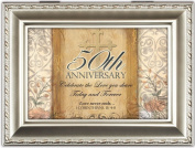 Cottage Garden 50Th Anniversary Champagne Silver Music Box / Jewellery Box Plays Amazing Grace