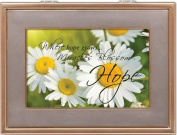 Cottage Garden Hope Gold With Silver Inlay Digital Music Box / Jewellery Box Plays I Hope You Dance