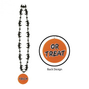 Bat Beads w/Printed Trick or Treat Medallion Party Accessory (1 count)