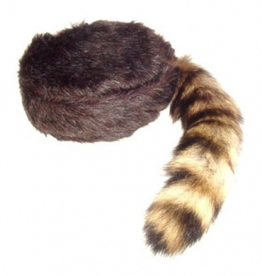Coonskin Cap, Earth Friendly Coon Tail, Davy Crockett Cap, Racoon Hat