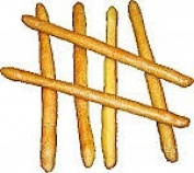 Bread Sticks 6pc. Fake Food Soft Touch USA