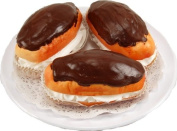 3 Piece Fake Eclair on a Plate Fake Food