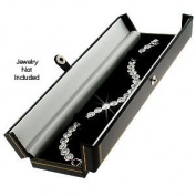 Classic Leatherette Black Double Doors Bracelet Gift Box