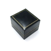 Classic Cartier Design Leatherette Black Jewellery Ring Gift Box