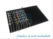 Black Velvet 20 Clips Insert for Bracelet / Necklace / Anklet for Counter Display Case / Box / Organiser / Holder for Jewellery Retail Shop