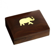 Gifts for Her Wood Carved Handcrafted Jewellery Armoire From India 4.5 X 8.3cm x 3.2cm