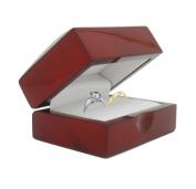 Cherry Wood Double Ring Jewellery Gift Box