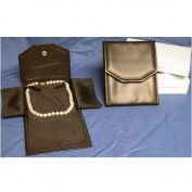 3 Black Leather Necklace Jewellery Travel Folder Display Cases