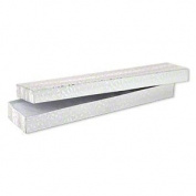 100 Pc Silver Foil Cotton Box Filled #82 Jewellery Boxes Size 8''L x 2''W x 1''H