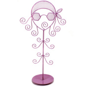Jewellery Stand Holder Organiser Necklaces Bracelets Rings . Girl Purple