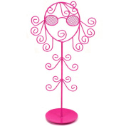 Jewellery Stand Holder Organiser Necklaces Bracelets Rings . Girl Hot Pink