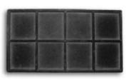 Flocked Insert (2x4) Black Tray Inserts Jewellery Display