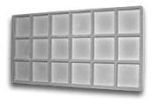 Flocked Insert (3x6) Grey Tray Inserts Jewellery Display
