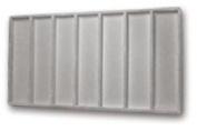 Flocked Insert (1x7) Grey Tray Inserts Jewellery Display