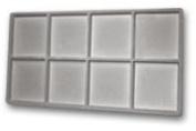Flocked Insert (2x4) Grey Tray Inserts Jewellery Display