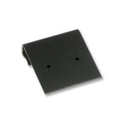 Earring Card 1x1 Black Plastic (Pack 100) Earring Jewellery Display