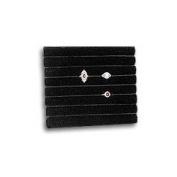 Multi-Slot Ring Pad Inserts Half Size Black Tray Inserts Jewellery Display