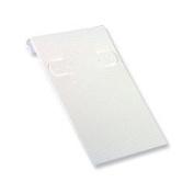 Earring Card 2x3 White Ribbed (Pack 50) Earring Jewellery Display