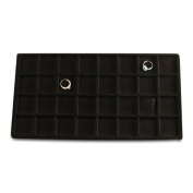32 Compartment Black Flocked Tray Insert 12pc Lot