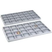 2 Grey 24 Slot Coin Jewellery Showcase Display Tray Inserts