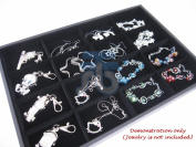 Black Velvet 16 Compartment Counter Display Case / Tray / Box /Organiser / Holder for Jewellery Retail Shop