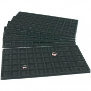 5 Black 50 Slot Pendant Jewellery Showcase Display Tray Inserts