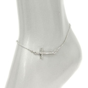 Fashion Jewellery ~ Cross Accented Wtih Crystals Anklet