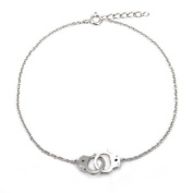 Sterling Silver Handcuff Anklet
