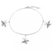 Christmas Gifts Bling Jewellery Starfish Anklet Ankle Bracelet 925 Sterling Silver