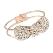 Zehui Fashion Cute Jewellery Crystal Rhinestone Bow Bowknot Bracelet Bangle Wristband