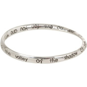 Heirloom Finds Psalm 23 Silver Tone Twist Bangle Bracelet
