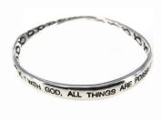 4030016 Christian Scripture Religious Bracelet Matthew 19:26