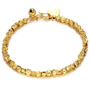 18k Gold Plated Bracelet No Fade Bell Bangle Hand Chain Lady Jewellery Gift Ks339
