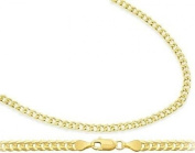 Solid 14k Yellow Gold Cuban Curb Link Bracelet 2.4mm 7 inches