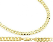 Solid 14k Yellow Gold Bracelet Cuban Curb Link 3.2mm 7 inches