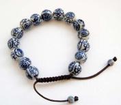 11mm Vintage Style Porcelain Beads Buddhist Wrist Mala Bracelet