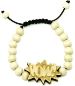 POW New Good Wood Goodwood Maple 10mm Bead Natural Wood Pendant Replica Bracelet Piece